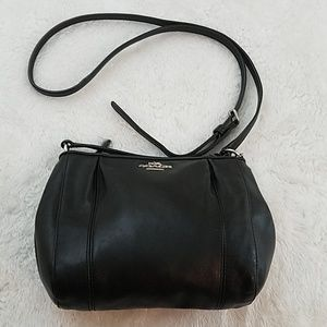 Coach Colette Black Leather Swingpack Crossbody